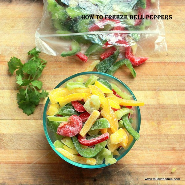 HOW TO FREEZE BELL PEPPERS ( CAPSICUM )