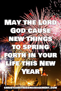 Christian New Year Wishes May the Lord God cause new things to spring forth in your life this New Year (Isaiah 43:19)