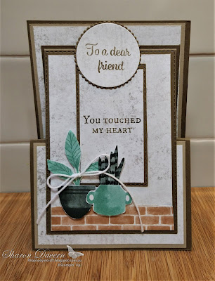 Rhapsody in craft, Soft Suede, Annual Catalogue 2021-22, Bloom Where You're Planted, Plentiful Plants, Fancy Fold Cards, Friendship Cards, Stitched with Whimsy Die, Stitched Rectangle Dies, Layering Circle Dies, #colourcreationsshowcase,#loveitchopit,Stampin' Up