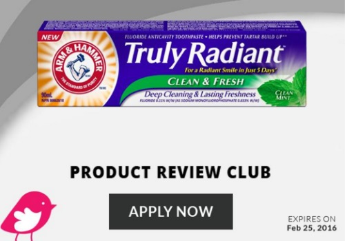 Chickadvisor Arm & Hammer Truly Radiant Toothpaste Campaign