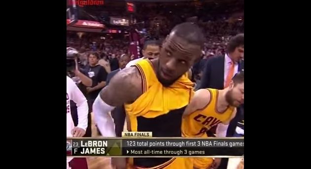 LeBron James flashes private parts