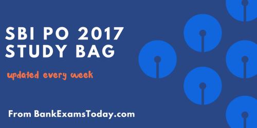 sbi po 2017 study bag