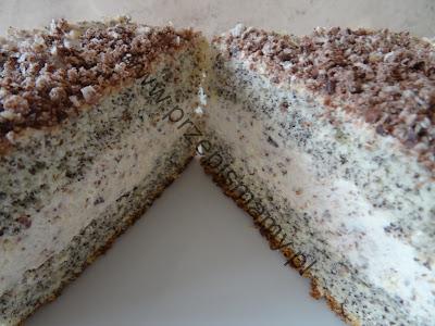 Ciasto makowe z masą prince polo