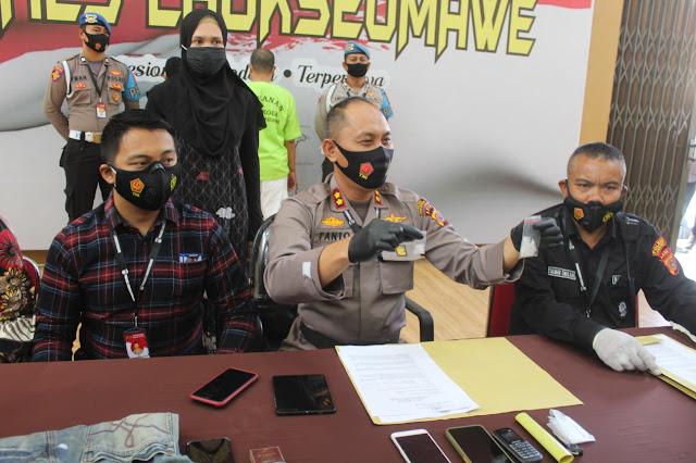 Polres Lhokseumawe Bekuk Oknum PNS Diduga Simpan Narkotika Jenis Sabu-sabu