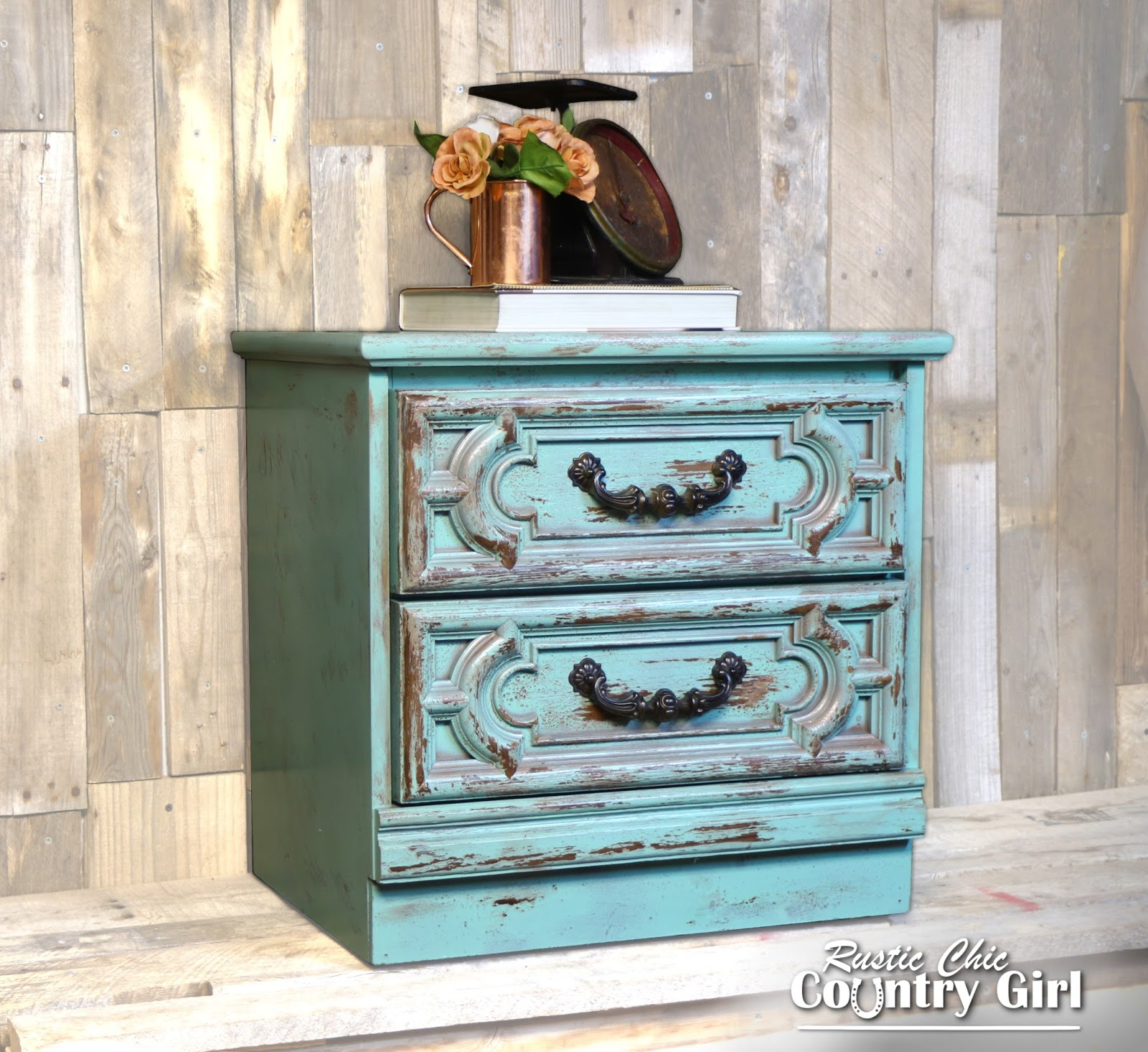 Rustic chic country girl steampunk inspired nightstand for How to build a nightstand from scratch