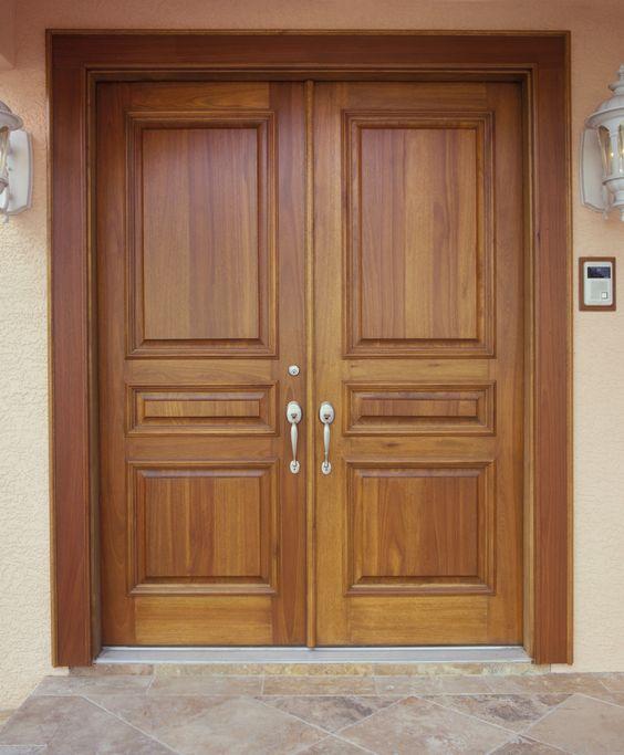 Double Front Door Ideas: 50 Photos Of Unique And Elegant Wooden Main Door Design