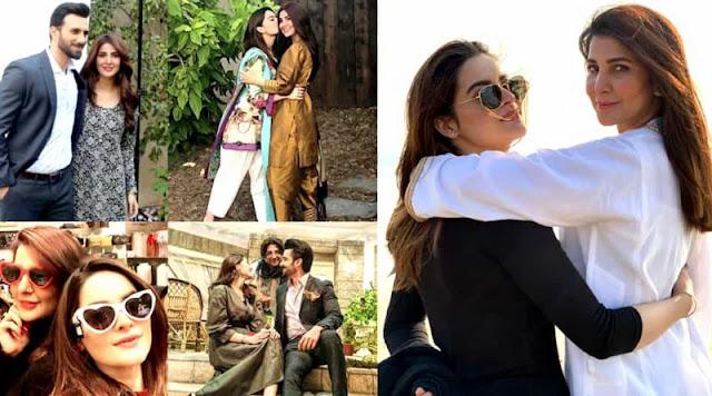 Minal Khan and Areeba Habib Pictures from Set of Drama Jalan