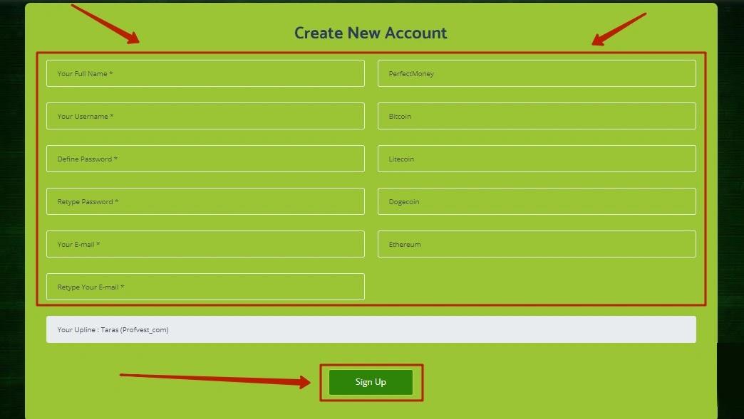 Регистрация в Hotex Crypto 2