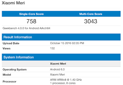 Xiaomi Mi5C Geekbench