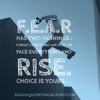 Quote image about fear , meaning of fear .