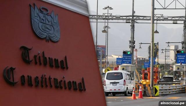 TC declara inconstitucional ley que suspende cobro de peajes