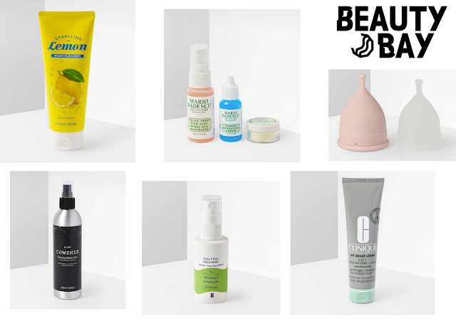 beauty bay sale products laid out in a graphic