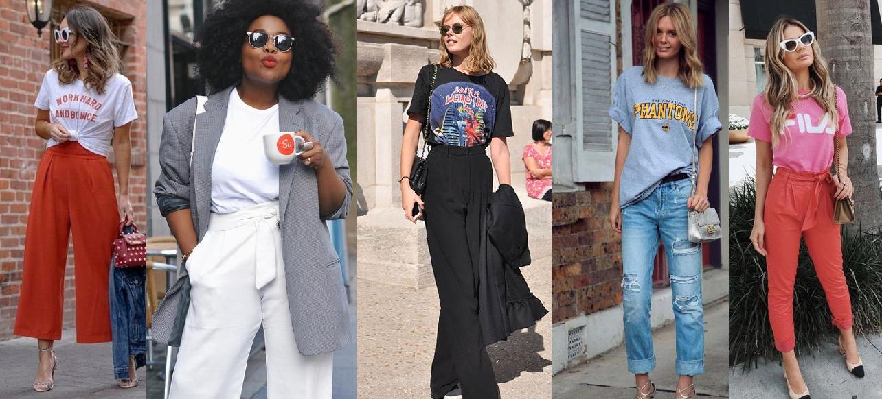 Looks com camiseta masculina 30 opções para te inspirar looks femininos com camiseta masculina anadodia ana do dia