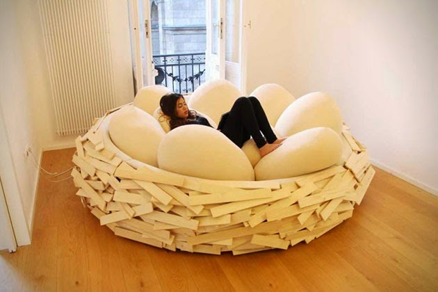 Cama en forma de nido