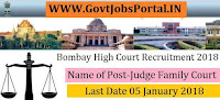 Bombay High Court Recruitment 2018 – 14 Judge Family Court