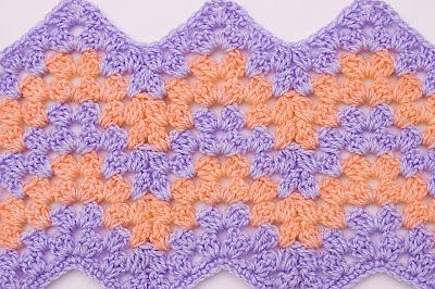 4 - Crochet Imagen Puntada zig zag a crochet por Majovel Crochet