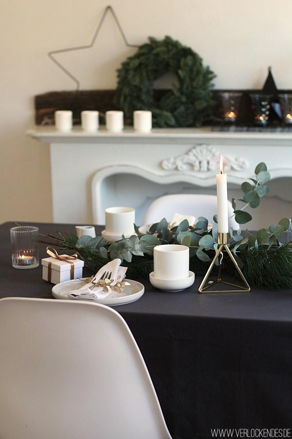 Weihnachtliche Tischdeko selber machen gestalten