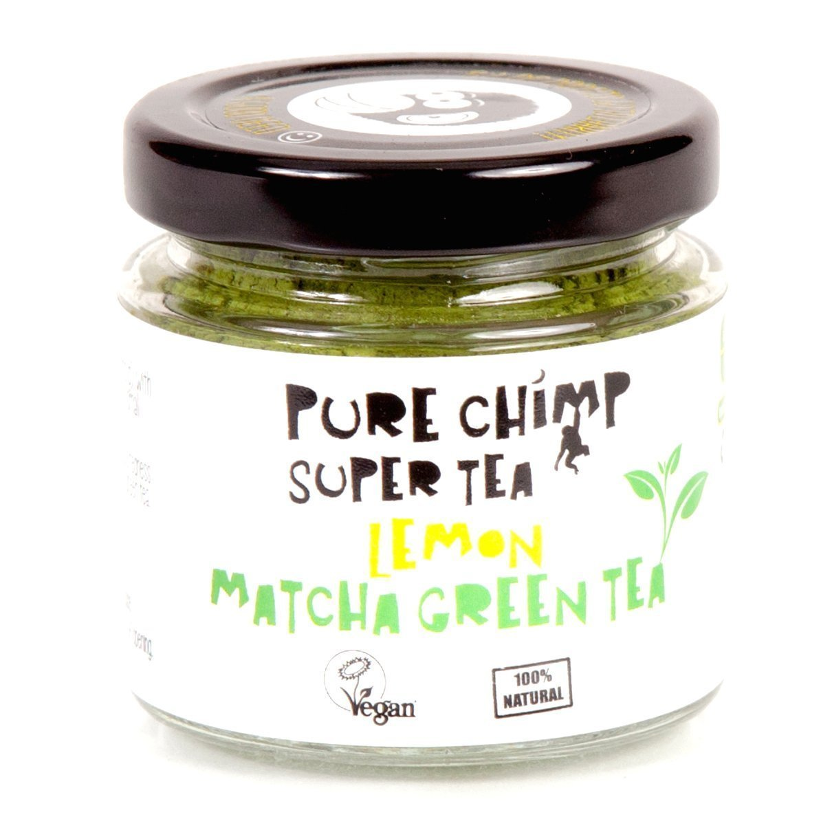 PureChimp Lemon Super Tea (Flavoured Matcha Green Tea Powder) 50g - Ceremonial Grade