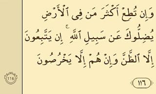 Surat al an'am ayat 116