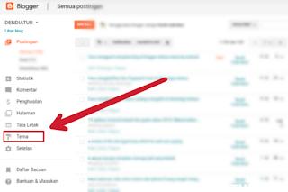 Cara mengganti template blog di blogger terbaru lewat hp android beserta gambar screenshot,