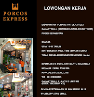 Info Lowongan Kerja Surabaya di Porcos Express Terbaru Desember 2019
