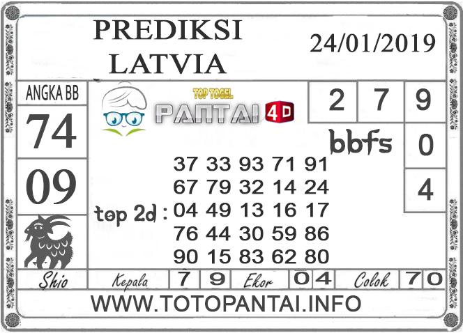 """Prediksi Togel """"LATVIA"""" PANTAI4D 24 JANUARI 2019"""