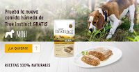 Muestras gratis de la comida para perros mini True Instinct