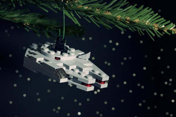Star Wars Lego Christmas Ornament - millennium falcon
