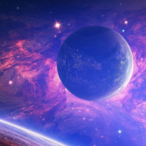 Purple Space Wallpaper Engine