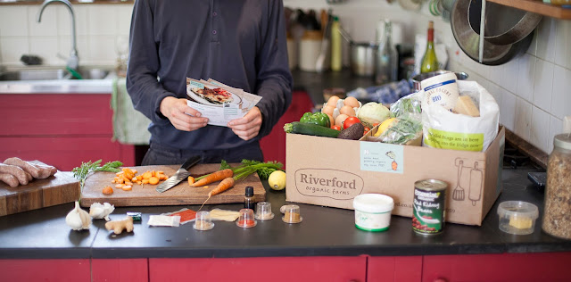 Riverford Organic Farms deliver a box to your door each week which contains three meals for two people and includes all the ingredients and three easy-to-follow recipe cards to create these meals.