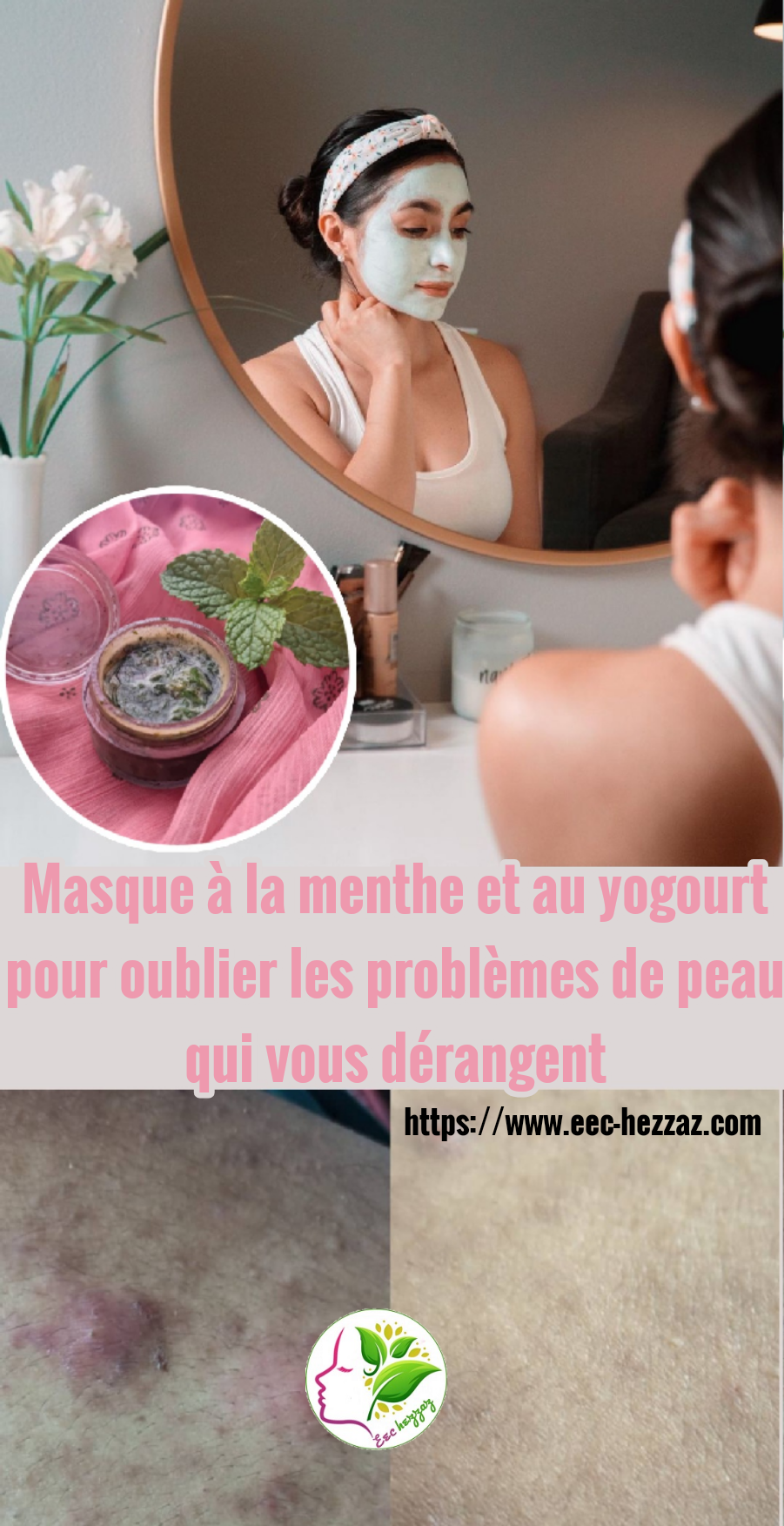 Masque à la menthe et au yogourt pour oublier les problèmes de peau qui vous dérangent