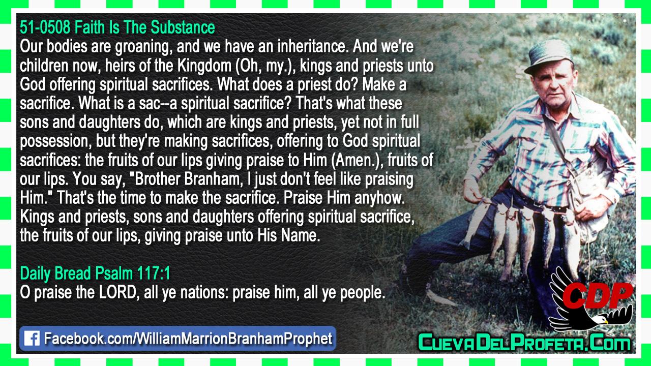Offering to God spiritual sacrifices - William Marrion Branham
