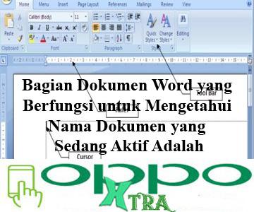 Bagian Dokumen Word yang Berfungsi untuk Mengetahui Nama Dokumen yang Sedang Aktif Adalah