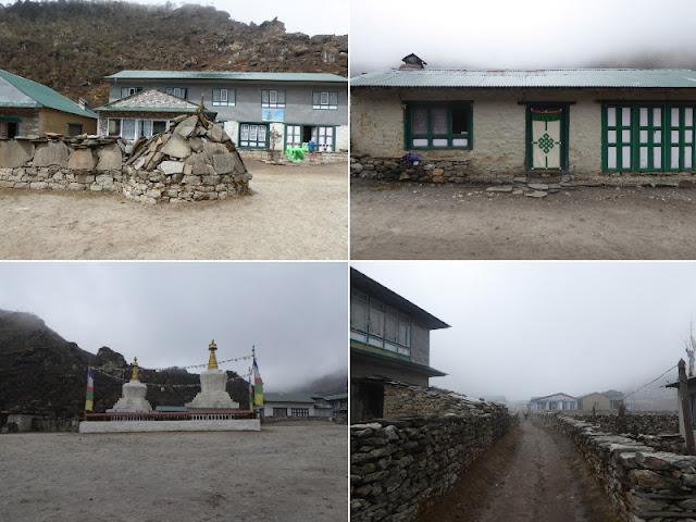 scorci del villaggio di Khumjung