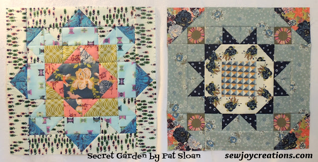 blocks 1 and 2 of the Secret Garden BOM