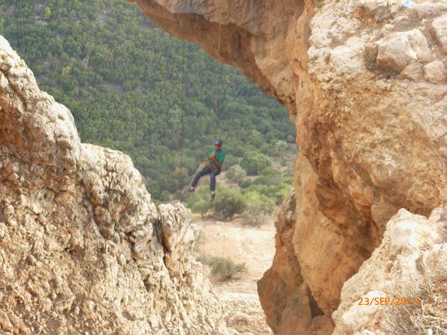 נוף מדהים מהסנפלינג במערת קשת