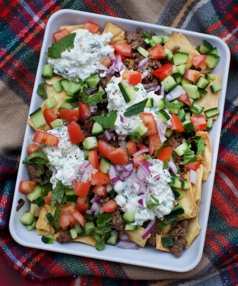 GREEK NACHOS #healthydiet #nachos #whole30 #paleo #food