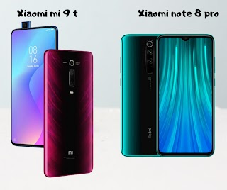 xiaomi redmi note 8 vs xiaomi mi 9t