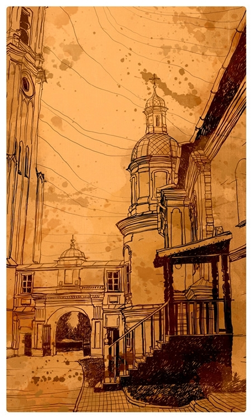 10-Evgeniy-Rodionov-Евгений-Родионов-Architectural-Drawings-with-a-Striking-Background-www-designstack-co