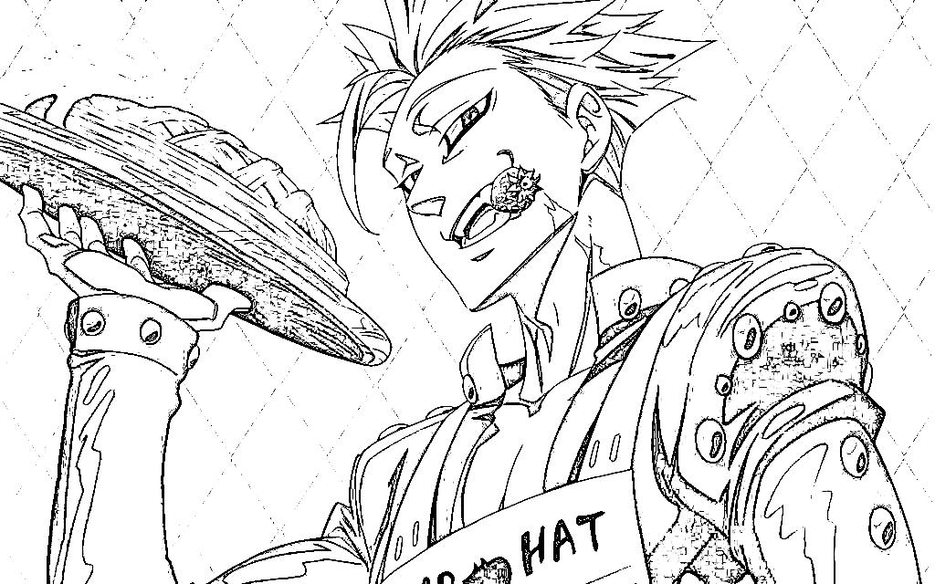 Ban (Nanatsu No Taizai) Para Colorear E Imprimir