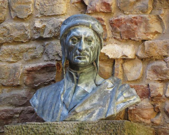 Bust of Dante Alighieri by Augusto Rivalta, Dante's House Museum, Via Santa Margherita, Florence