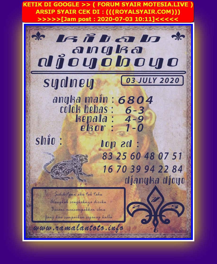 Kode syair Sydney Jumat 3 Juli 2020 89
