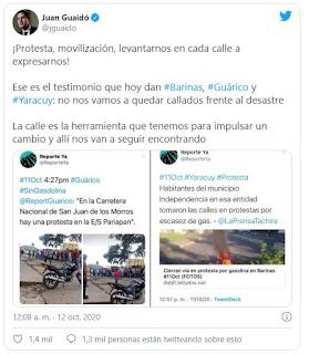 NUEVAMENTE   Guaidó pide al pueblo que salga a protestar a las calles
