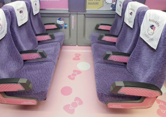 Semua naik! Kereta peluru Hello Kitty debut di Jepang
