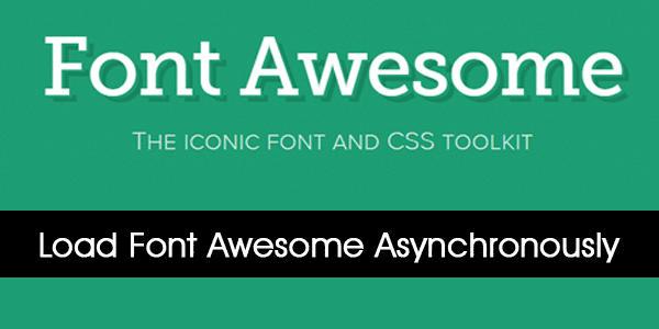 Render Blocking CSS Font Awesome