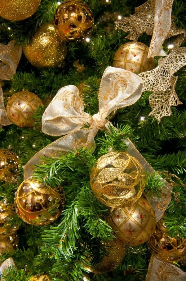 Fotos de rboles de navidad dorados colores en casa for Arbol de navidad dorado