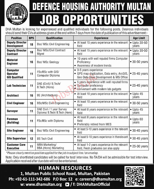 DHA Defence Housing Authority Jobs 2020 Govt Jobs