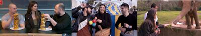 Desafio do Hambúrguer / Mônica com Sandro & Cícero / Apresentadora no zoológico (Divulgação/SBT)