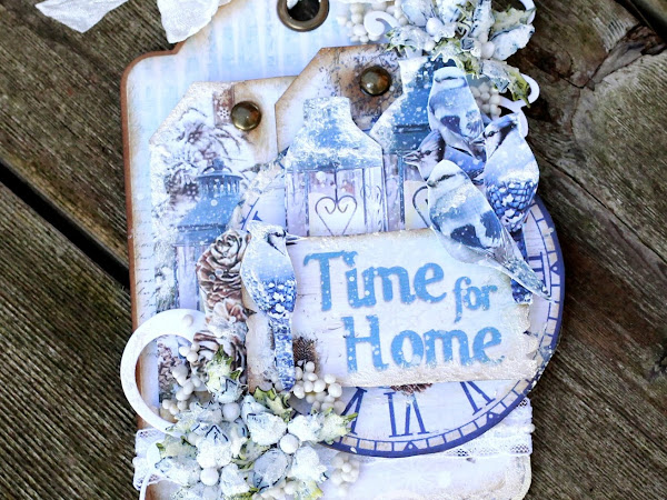 Time for Home Christmas Tag - Creative Scrapbooker