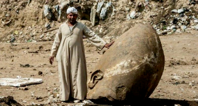 Giant Statues of Egyptian Pharaoh found in Mud Pit (See Photos)